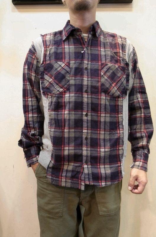 old park オールドパーク sw docking shirts ドッキングシャツ リメイク