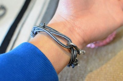 画像2: 【JLK】 Wrap Bracelet (シャックル)