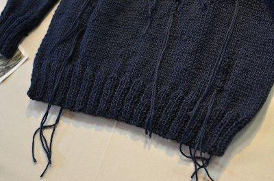 画像2: 【Harapos Reales/ハラポスレアレス】 Hermano Sweater ダメージ風ニット