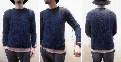画像3: 【Harapos Reales/ハラポスレアレス】 Hermano Sweater ダメージ風ニット