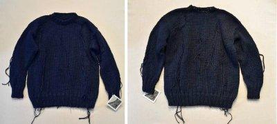 画像1: 【Harapos Reales/ハラポスレアレス】 Hermano Sweater ダメージ風ニット