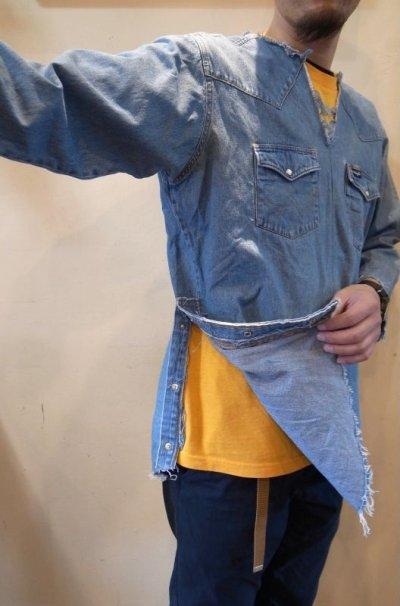 画像2: 【OLD PARK/オールドパーク】 TUNIC SHIRT DENIM WESTERN チュニックシャツ