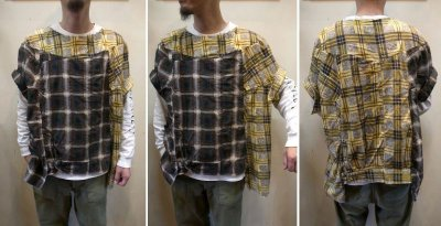 画像3: 【OLD PARK/オールドパーク】 COLLAR SLEEVE SHIRT FLANNEL