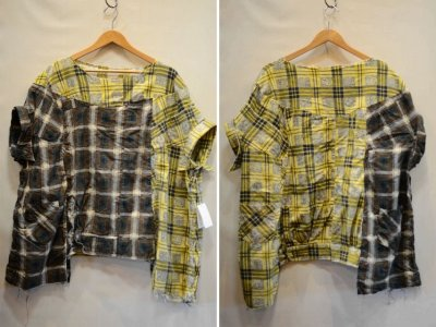 画像1: 【OLD PARK/オールドパーク】 COLLAR SLEEVE SHIRT FLANNEL