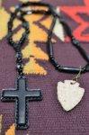画像3: 【Rooster King&co./ルースターキング】 Black Cross Rosario Necklace ブラッククロス ロザリオネックレス (3)