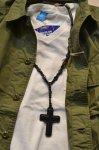 画像12: 【Rooster King&co./ルースターキング】 Black Cross Rosario Necklace ブラッククロス ロザリオネックレス (12)