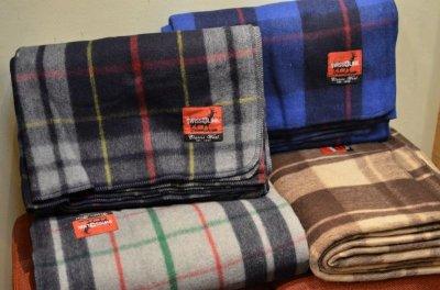 画像1: 【SWISS LINK】 Plaid Wool Blankets