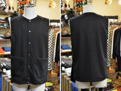 画像1: 【JACKMAN/ジャックマン】 JM7813 Jersey Collarless Vest