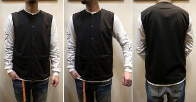 画像3: 【JACKMAN/ジャックマン】 JM7813 Jersey Collarless Vest