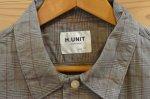 画像13: 【H.UNIT/エイチユニット】 Voil check triple pocket short sleeve shirt トリプルポケット半袖シャツ (13)