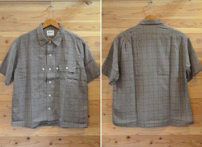 画像1: 【H.UNIT/エイチユニット】 Voil check triple pocket short sleeve shirt トリプルポケット半袖シャツ