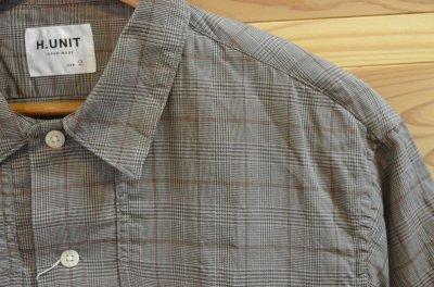画像2: 【H.UNIT/エイチユニット】 Voil check triple pocket short sleeve shirt トリプルポケット半袖シャツ