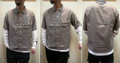 画像3: 【H.UNIT/エイチユニット】 Voil check triple pocket short sleeve shirt トリプルポケット半袖シャツ