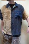 画像4: 【Remake by K】 リネン 半袖オープンカラーシャツ (4)