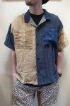 画像1: 【Remake by K】 リネン 半袖オープンカラーシャツ (1)