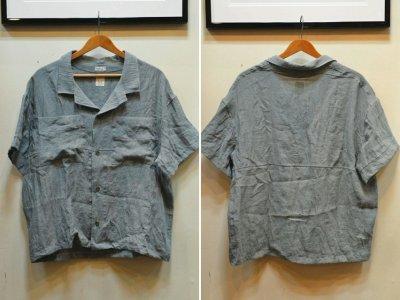 画像1: 【Remake by K】 リネン 半袖オープンカラーシャツ