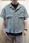 画像2: 【Remake by K】 リネン 半袖オープンカラーシャツ (2)