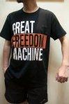 """画像3: オリジナルプリントTシャツ """"GREAT FREEDOM MACHINE"""" (3)"""