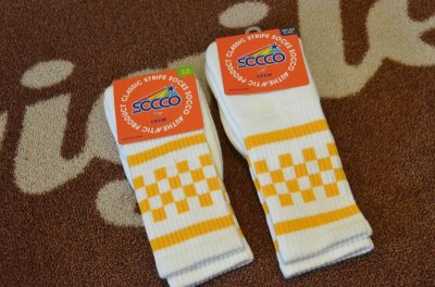 画像1: 【SOCCO/ソッコ】 Checkered Crew Socks