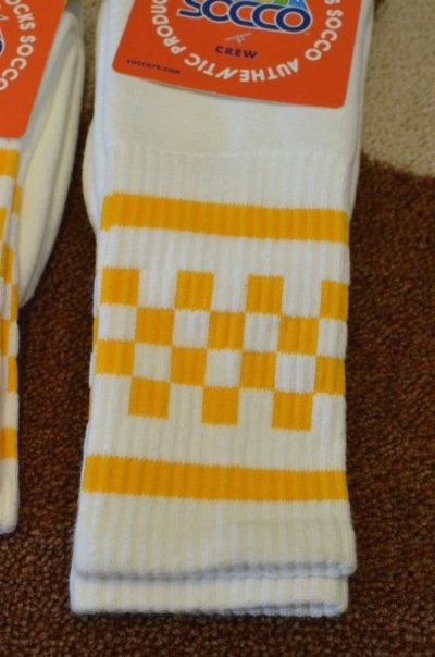画像2: 【SOCCO/ソッコ】 Checkered Crew Socks