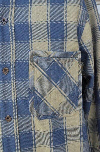 画像2: 【DE-NA-LI/デナリ】 スタンドカラー ネルシャツ