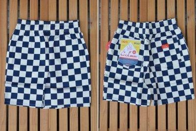 画像1: 【Cookman】 Chef Short Pants 「Checker Navy」