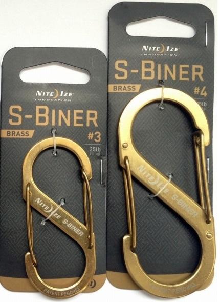 画像1: 【NITE IZE/ナイトアイズ】 S-BINER  /エスビナー ブラス (1)