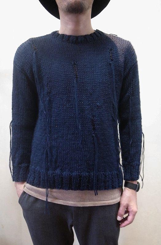 画像1: 【Harapos Reales/ハラポスレアレス】 Hermano Sweater ダメージ風ニット (1)