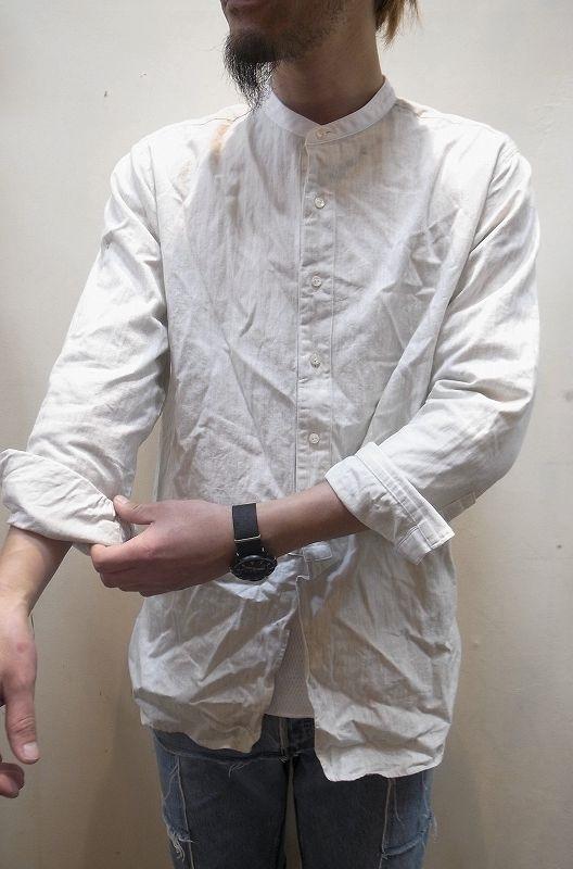 画像1: 【DICE FACTORY】 ロング丈 バンドカラーシャツ (1)