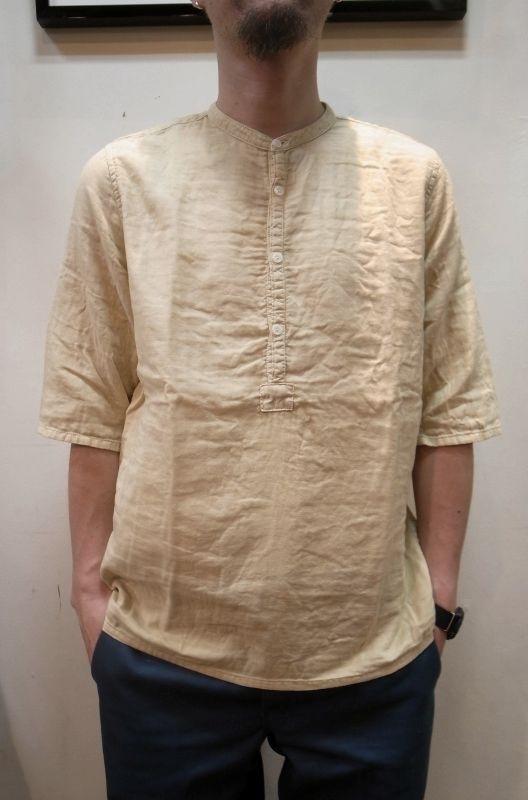 画像1: 50%OFF 【Niche.+/ニッチプラス】Gauze Henly Shirts ガーゼヘンリーシャツ (1)