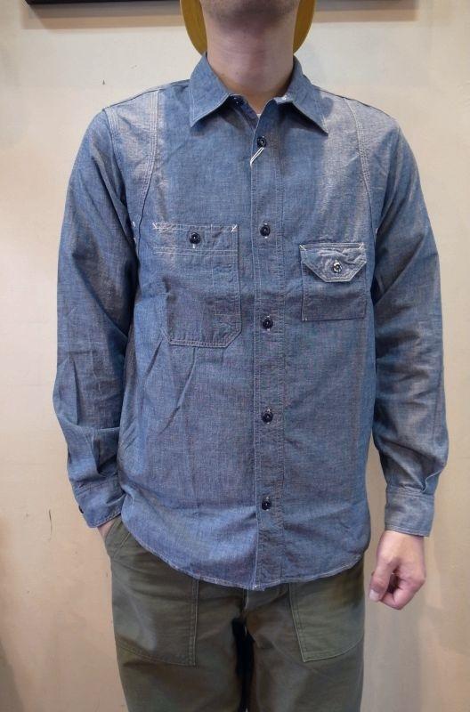 画像1: 【Workers/ワーカーズ】 Cigaret Pocket Shirt シガレットポケットワークシャツ (1)