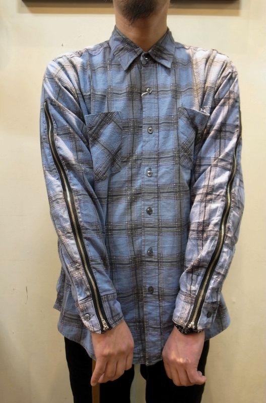 画像1: 【OLD PARK/オールドパーク】 ZIP SLEEVE SHIRTS ジップスリーブシャツ (1)