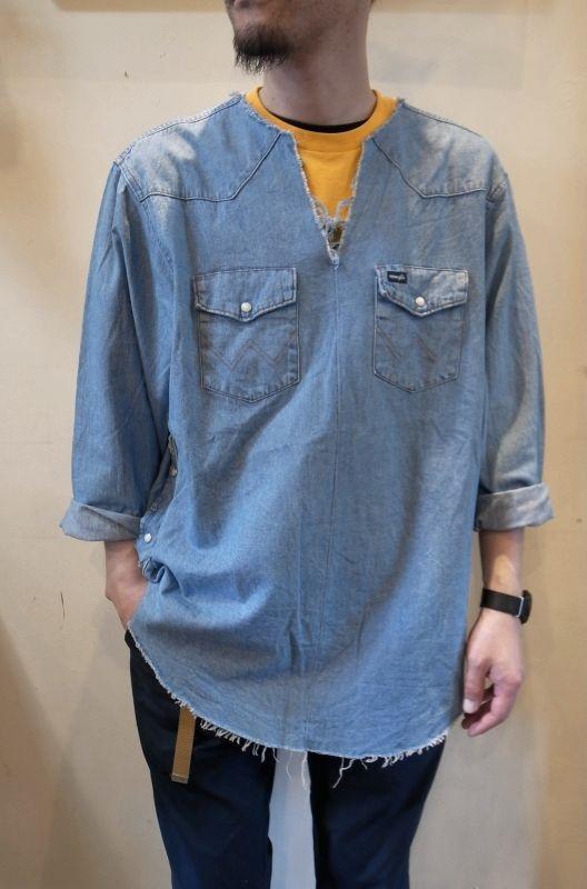 画像1: 【OLD PARK/オールドパーク】 TUNIC SHIRT DENIM WESTERN チュニックシャツ (1)