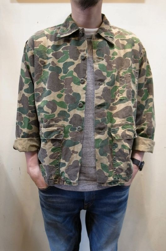 画像1: USED ハンティングカモ ジャケット (1)