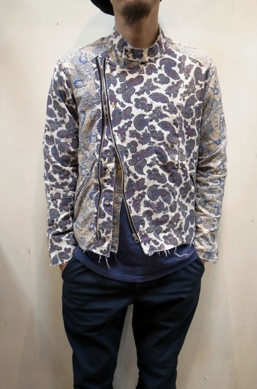 画像1: 30%OFF【OLD PARK/オールドパーク】 RIDERS SHIRT PAISLEY (1)