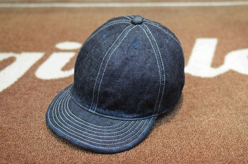 画像1: 【HIGHER/ハイヤー】 SELVEDGE DENIM CAP (1)