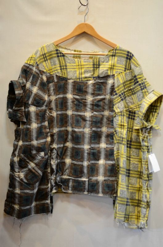 画像1: 【OLD PARK/オールドパーク】 COLLAR SLEEVE SHIRT FLANNEL (1)