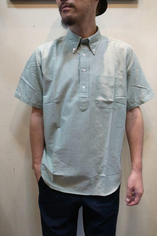 画像1: 【THE BAGGY/バギー】 カラーオックスフォード プルオーバー BD半袖シャツ (1)