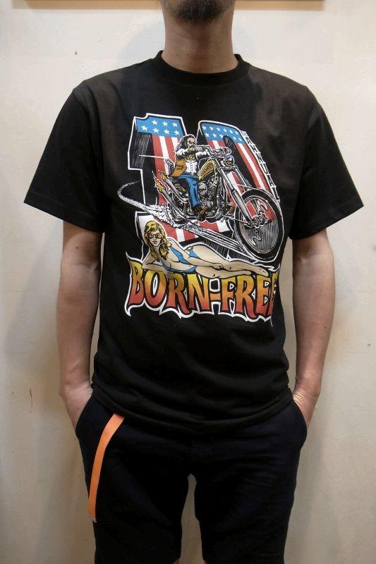 画像1: Born Free Motorcycle Show/ボーンフリーモーターサイクルショー BORN-FREE10 TEE (1)