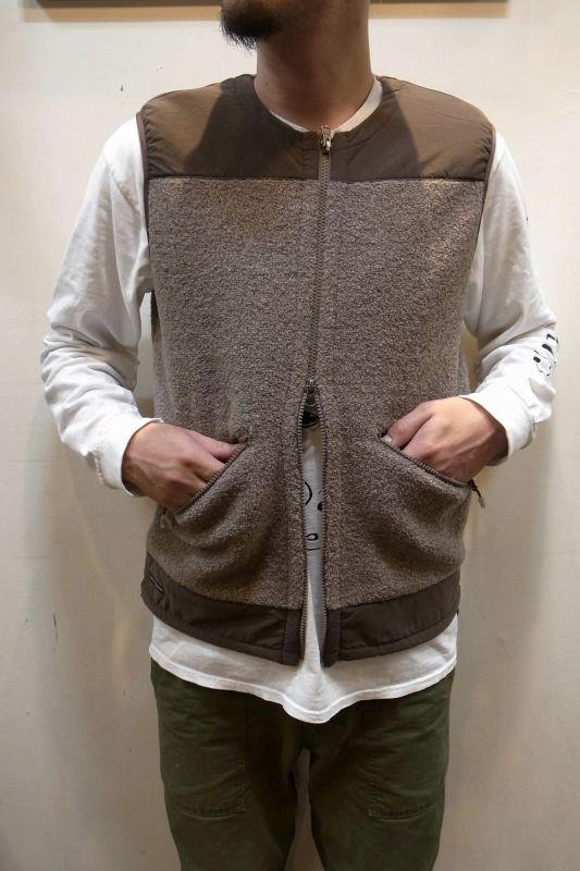 画像1: 【Mountain Equipment/マウンテンイクィップメント】 Wool Boa Vest ウールボアベスト (1)