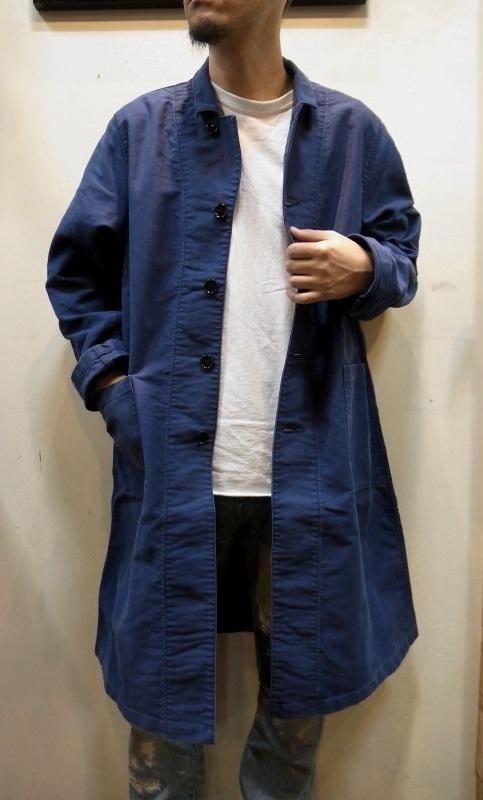 画像1: 【H.UNIT STORE LABEL/エイチユニット ストアレーベル】 Moleskin Long Atelier Coat モールスキン ロング アトリエコート (1)