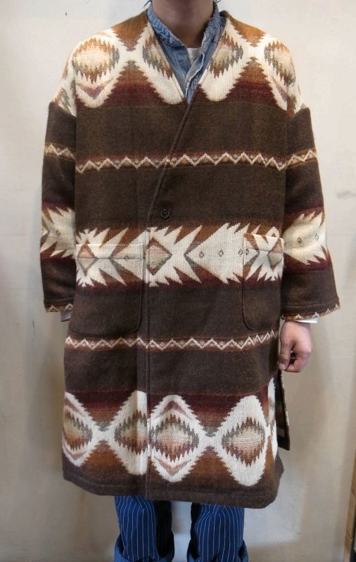 画像1: 30%OFF【AnDe】Blanket Long Coat (1)
