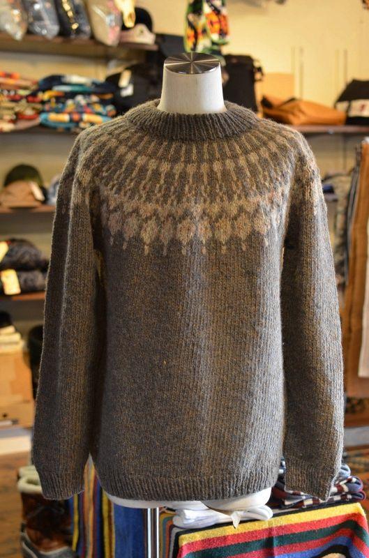 画像1: USED ノルディックセーター (1)