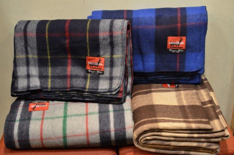 画像1: 【SWISS LINK】 Plaid Wool Blankets (1)