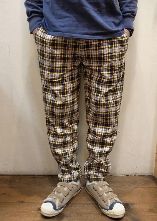 画像1: 【Cookman】 Corduroy Tartan Chef Pants (1)