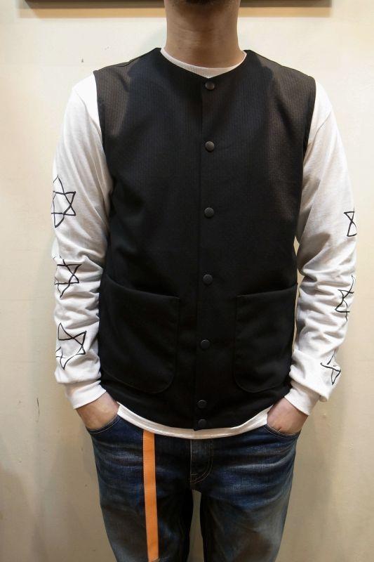 画像1: 【JACKMAN/ジャックマン】 JM7813 Jersey Collarless Vest (1)