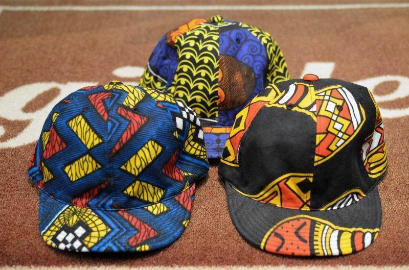 画像1: 【HIGHER/ハイアー】 AFRICAN BATIK KITENGE CAP (1)