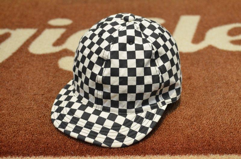 画像1: 【HIGHER/ハイアー】 チェッカーフラッグ CAP (1)