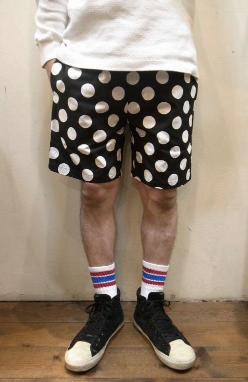 画像1: 【Cookman】 Chef Short Pants シェフショートパンツ 「BIG DOTS」 (1)