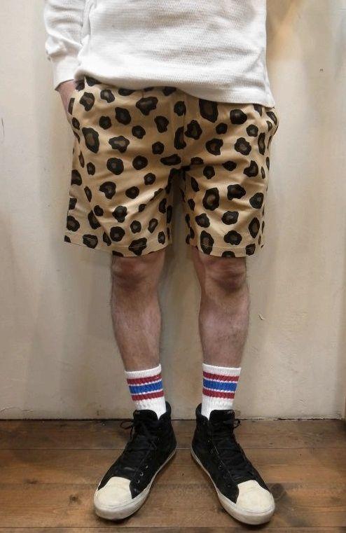 画像1: 【Cookman】 Chef Short Pants シェフショートパンツ 「BIG LEOPARD」 (1)
